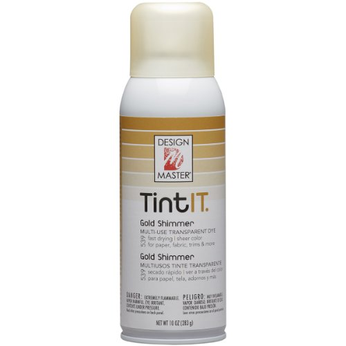 Design Master Tint IT Transparent Dye Spray Paint, 10-Ounce, Gold Shimmer ()
