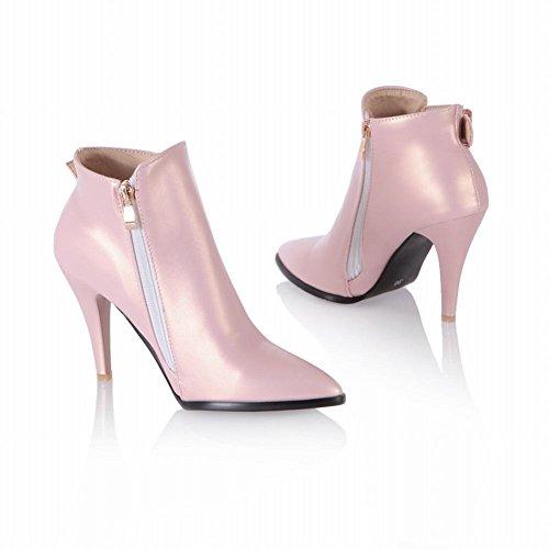 Latasa Dames Neus Hoge Hakken Enkellaars Laarzen Roze