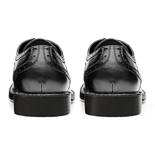 Men's Wingtip Classic Italy Lace-up Black Dress Shoes Black 11 D (M US