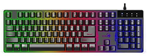 Genius GX Scorpion K8 ENGLISH-ARABIC – Professional Backlit Gaming Keyboard with Floating Keycaps
