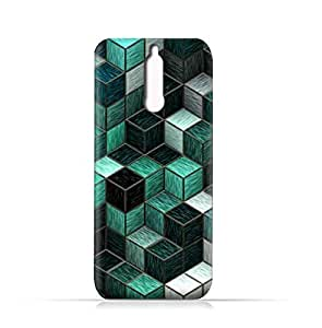 Huawei Mate 10 Lite TPU Silicone Case with Cubes Pattern Design