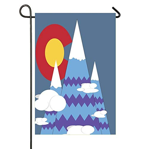 (Dongingp Colorado Mountains Seasonal Garden Flag Double-Sized Premium Outdoors Lawn Decor Holiday Yard Flags to Bright Up Your 12)