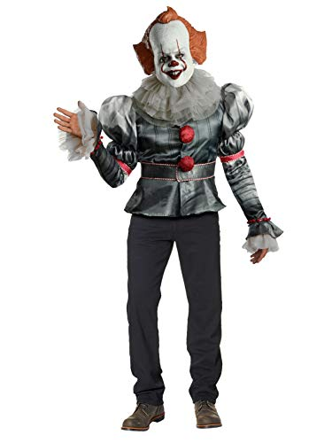 1990 Movie Halloween Costume (Rubie's Men's IT Movie Chapter 2 Adult Pennywise Deluxe Costume, Standard, As)