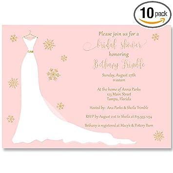 winter wedding gown invitation winter bride bridal shower bridal shower invitations wedding