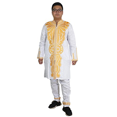 H D Dashiki South Africa Embroidery Pattern Apparel Bazin Riche Getzner Clothing Available Shirt for Men