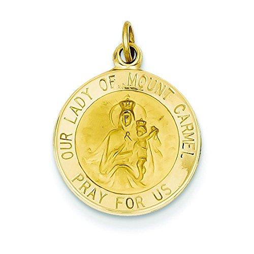 Or 14ct Notre Dame de Mont Carmel Médaille Charme