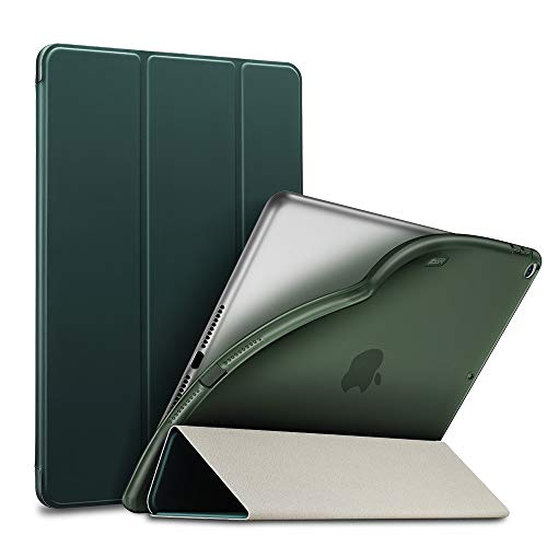 "ESR Rebound Slim Smart Case Specially Designed for iPad Air 3 10.5"" 2019, Flexible TPU Back Cover with Rubberized Coating,Auto Sleep/Wake and Viewing/Typing Stand for iPad Air (3rd Gen)2019,Pine Green"