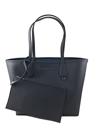 Michael Kors Candy LG Reversible PVC Tote Bag Navy/Steel Blue by Michael Kors