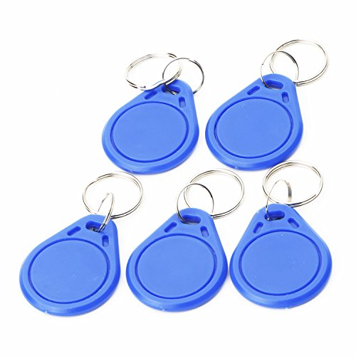 5 X Smart Card MF1 RFID IC Key Ring Tag Keyfobs Keychain for Mifare for Arduino