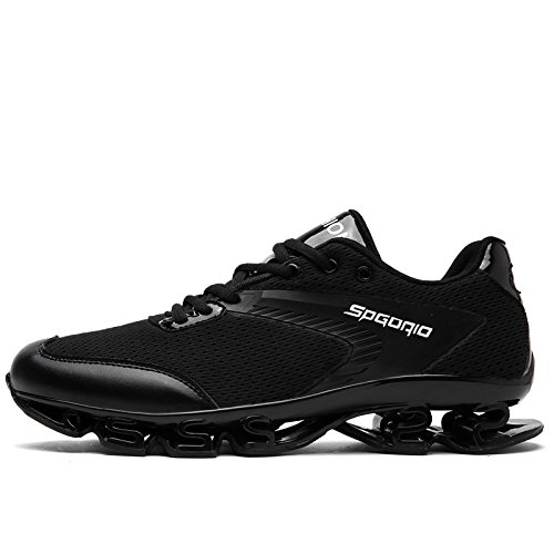 HYLM Fitness Zapatos Hombre Zapatillas Moda Zapatos Deportivos Al Aire Libre Casual Men Primavera Zapatos Black