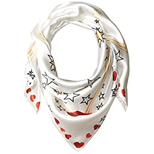 Orchid Row Women's Interstellar Love Silk Effect Fashion bandanna Scarf