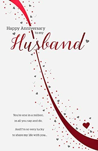 Amazon Com Husband One In A Million Wedding Anniversary Card Office Products