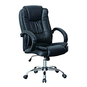 523e70c2b5e8 HNNHOME High Back Luxury 360 Degree Swivel Leather Executive Office  Furnitue Computer Desk Seat Height Adjustable Office Chair