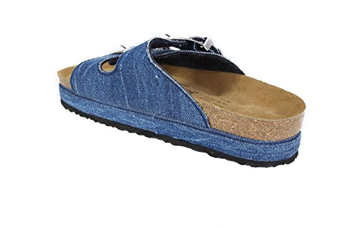 40 Jeansblue Schmal London N JOYCE JOE Sandalen Soft Plateau Jeans Fußbett Größe UAxBwqz