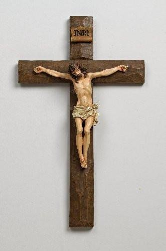 Jesus Driftwood Textured Crucifix 12 Inch Hanging Wall Cross