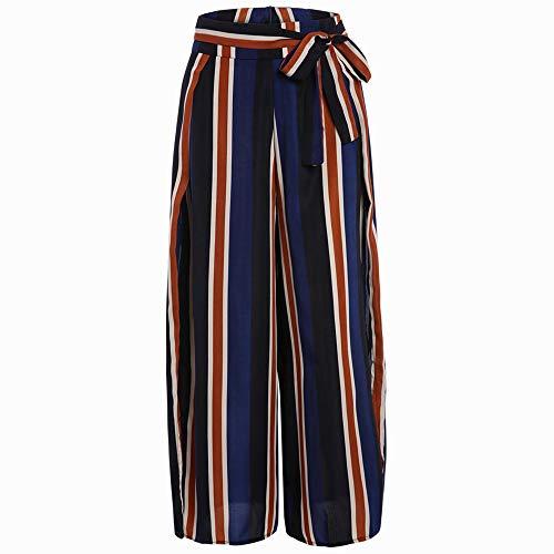 Donna Lunghi Pantaloni Blu Larghi Zhrui Eleganti Donna Pantaloni Blu n1OaExqw
