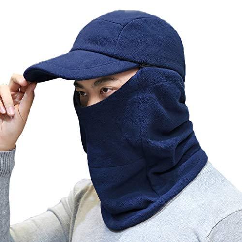Winter Cap Warm Visor Beanie Knit Brim Hat Warm Fleece Lined Ski Earflaps