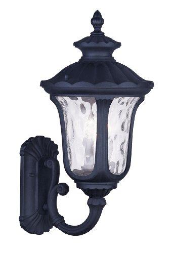 Livex Lighting 7856-04 Oxford 3 Light Outdoor Wall Lantern, Black ()