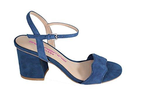 Fornarina Women's Fey Ankle Strap Heels, Black, 4 Blue