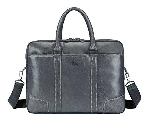 Genda 2Archer Leder Top-Griff Handtasche Büro Business Umhängetasche