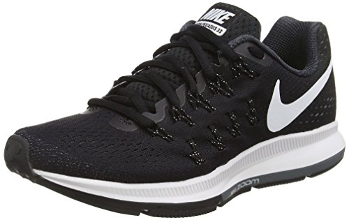 Nike Air Zoom Pegasus 33, Chaussures de Running Compétition Femme Noir (Black/white-anthracite-cool Grey)