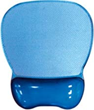 Mouse Pad with Gel Wrist Rest, Blue Crystal