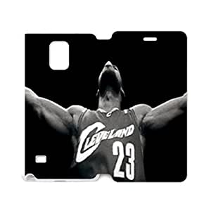 Hoomin Lebron James Cool Design Samsung Galaxy Note4 Cell Phone Cases Cover Popular Gifts(Laster Technology)