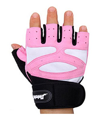 PANDA SUPERSTORE Girls Breathable Anti-Skid Gloves Durable Exercise Gloves, Pink