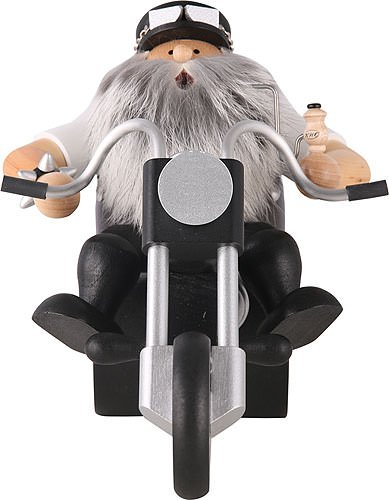 KWO Biker on Motorcycle German Christmas Incense Smoker Made in Germany by KWO