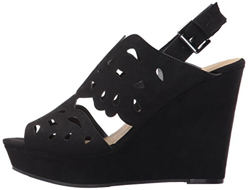 Chinese Laundry Women's in Love Wedge Sandal, Black Suede, 7.5 M US by Chinese Laundry (Image #5)