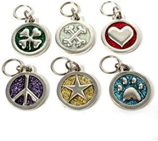 product image for Glitter Circle Dog Tags-L-STAR