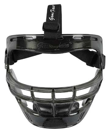 Game Face Large Smoke Sports Safety Mask with Black T-Harness by Game Face