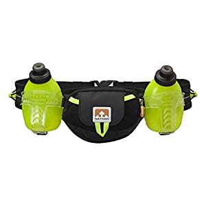 Nathan Trail Mix Plus Hydration Belt, Black/Safety Yellow, One Size