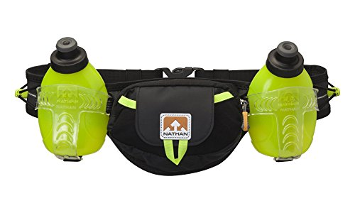Hydration Belts For Runners - Nathan 4637NBSY Trail Mix Plus Hydration Belt, Black/Safety Yellow, One Size