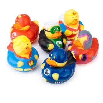 Super Hero Rubber Duck Duckies