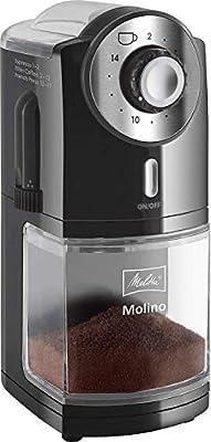 Melitta 1019-02 Molino - Molinillo de café eléctrico, Disco plano ...