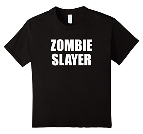 Kids Zombie Slayer T-Shirt Easy DIY Halloween Costume 12 (Diy Halloween Zombie Costumes)