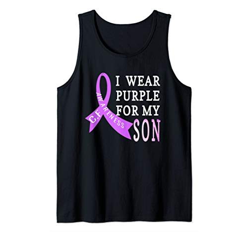 (I Wear Purple for My Son Cystic Fibrosis CF Awareness  Tank)