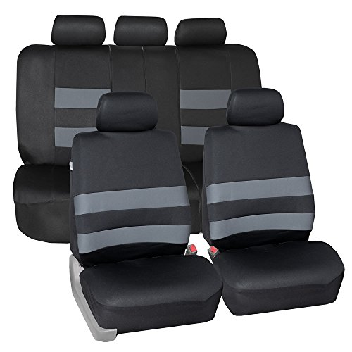 FH Group FB087GRAY115 Premium Neoprene Seat Cover (Water Resistant/Airbag/Split Bench Compatible)Cushion