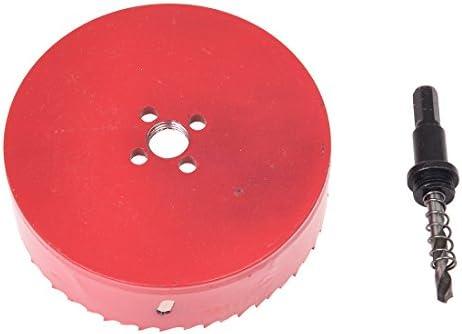 RETYLY 120 mm Durchmesser Bimetall-Lochschneider Schneidesaegen Rot