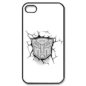 Generic hard plastic Transformers Autobot Logo Cell Phone Case for iPhone 4 4S Black ABC8354571