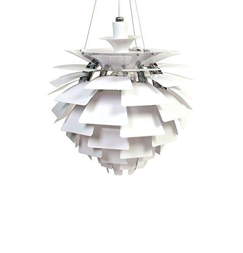 White Artichoke Pendant Light