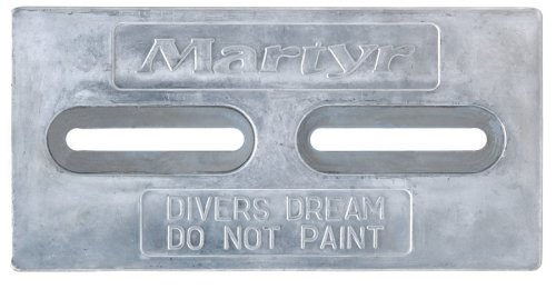 Martyr CMDIVERZ, Zinc Alloy Pleasurecraft Divers Dream Slotted Bolt-on Plate anode by Martyr Anodes
