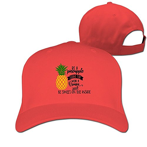 Red Gummy Bear Costume (Slience Be A Pineapple Outdoor Cotton Trucker Cap Casual Adjustable Baseball Cap)