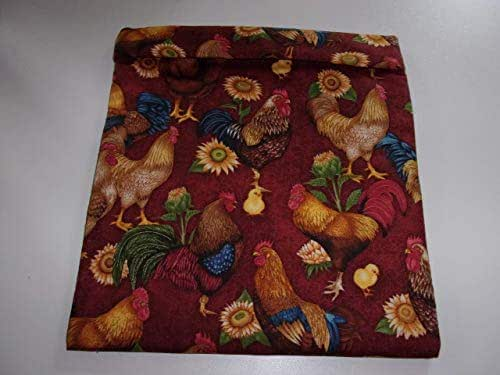 Amazon.com: Microwave Potato Bag Chickens Roosters on Rust