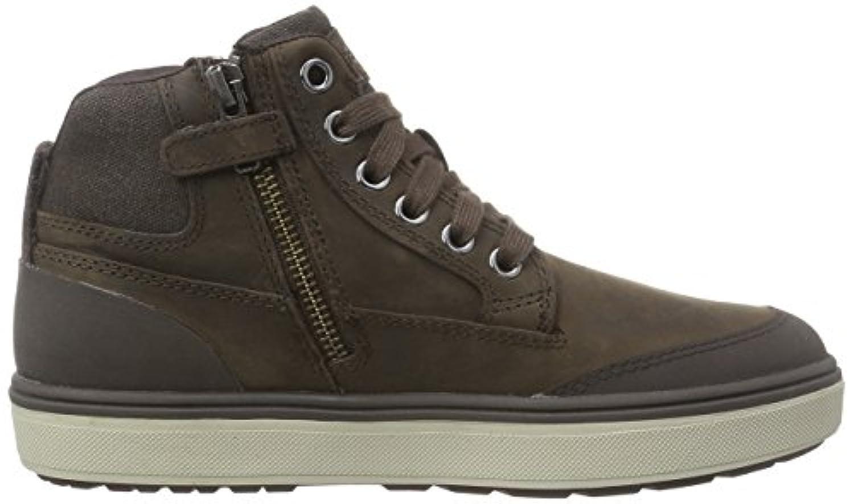 Geox J Mattias Amphibiox, Boys' Hi-Top Sneakers, Brown (Dark Brown), 1 UK (33 EU)