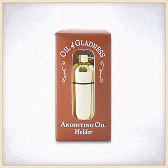 Anointing Oil - Keyring Holder - Goldtone - Boxed