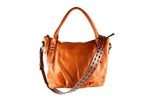 SALVADOR BACHILLER tote Bag - Becca AN1704 - Cuoio