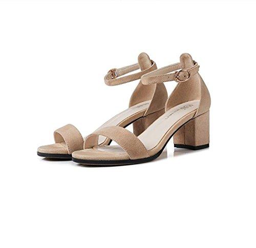 Xzgc De Marrón Claro Sandalias Y Zapatos Piso Verano Balcón Gruesas Con Mujer ST4S7x