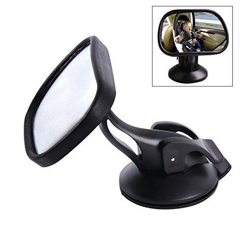 Baby Back Seat Safe Mirror for Car,Black